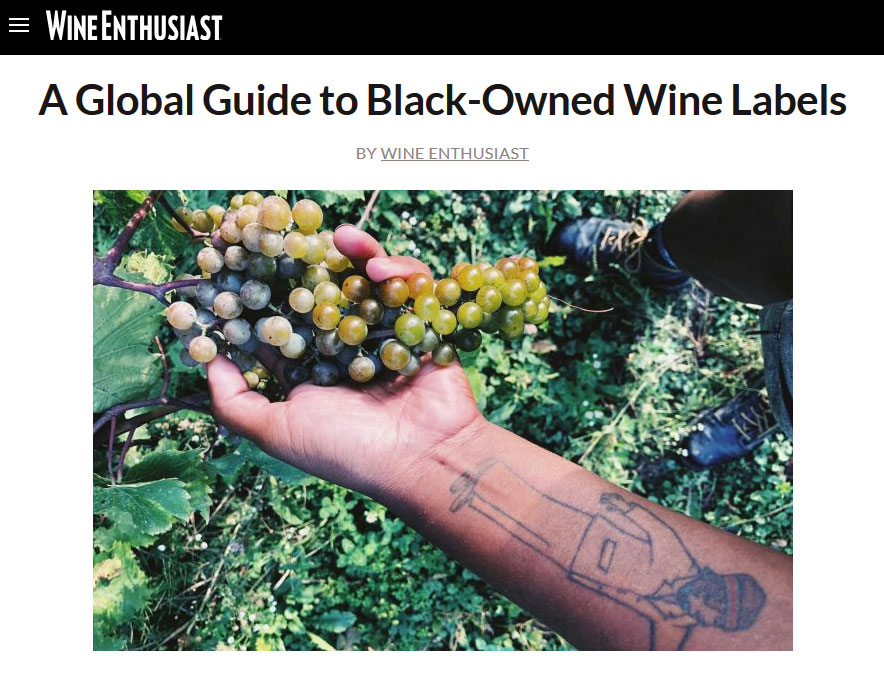 Wine Enthusiast - A Global Gide to Black-Owned Wine Labels